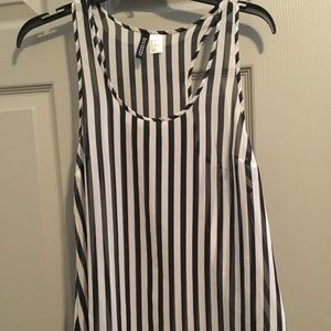Divided by H&M black and white striped tank.
